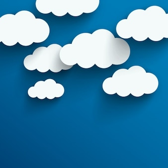 Chmury w tle
