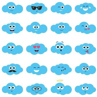 Chmury z uśmiechniętymi twarzami