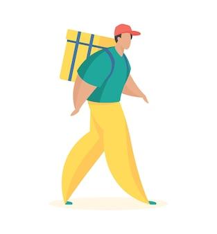 Chodzący kurier z plecakiem termicznym dostawa wysokiej jakości w dowolnym momencie