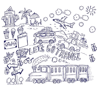 Chodźmy podróżować, doodle