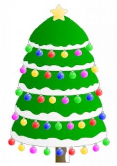 Choinka. arbol de navidad