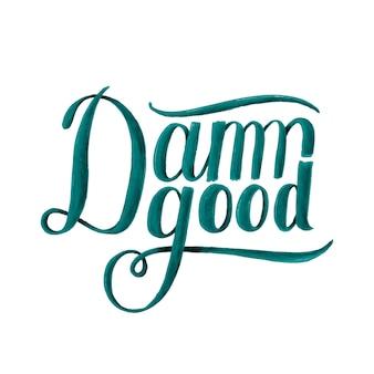 Cholernie dobry projekt ilustracja typografii