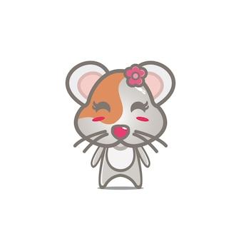 Chomik kreskówka postać projekt wektor maskotka koncepcja