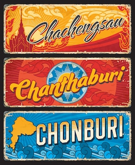 Chonburi chanthaburi chachegsau prowincje tajlandii