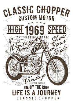 Chopper, plakat vintage ilustracji.