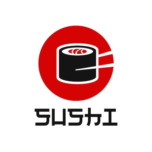 Chopstick swoosh bowl orientalna kuchnia japońska japońska sushi owoce morza inspiracja do projektowania logo