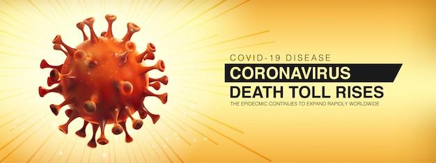 Choroba covid-19, epidemia nowego koronawirusa. wzrasta liczba ofiar śmiertelnych.