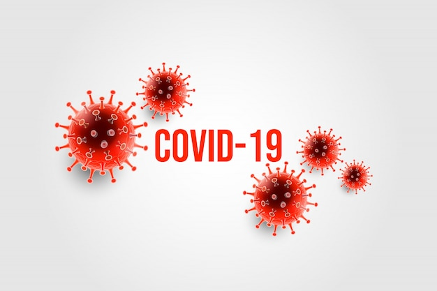 Choroba koronawirusowa typografia zakażenia covid-19 i przestrzeń kopii. nowa oficjalna nazwa choroby koronawirusowej o nazwie covid-19, epidemia koronawirusa