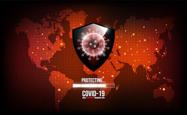 Choroba koronawirusowa zakażenie covid-19 medyczne. nowa oficjalna nazwa choroby koronawirusowej o nazwie covid-19, światowa koncepcja zapobiegania epidemii koronawirusa