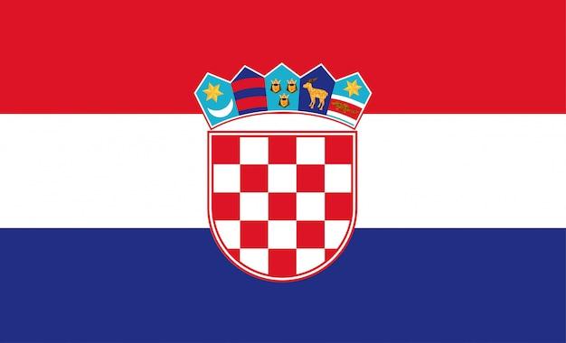 Chorwacja projekt ilustracji wektorowych