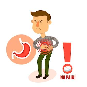 Chory ból żołądka charakter