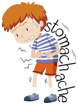 Chory chłopiec o ból brzucha