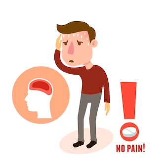 Chory charakterystyczny ból głowy