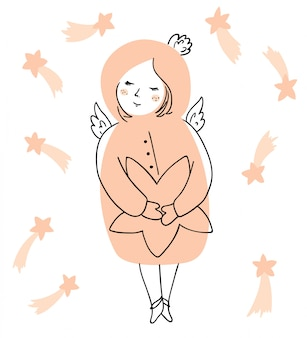 Christmas angel z gwiazdą