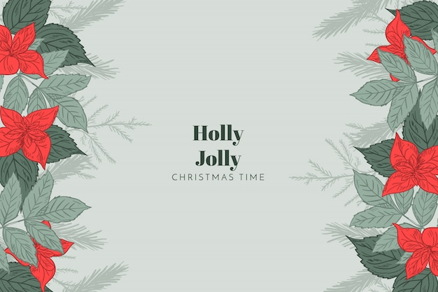 Christmas background holly jolly