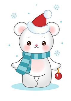 Christmas bear clipart