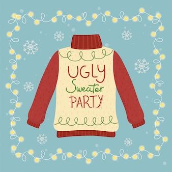 Christmas brzydki sweter party świecące światła dekoracji