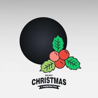 Christmas cherry card