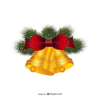 Christmas dzwony z czerwonym dziobem