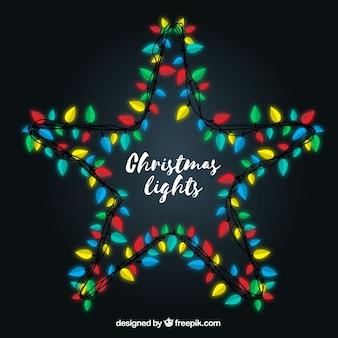 Christmas lights tworzących gwiazdę