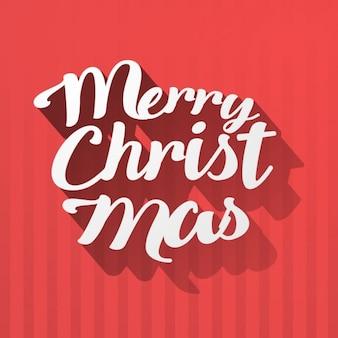 Christmas napis na czerwonym backgorund