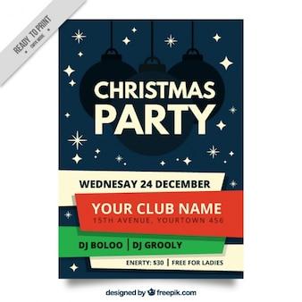 Christmas party broucher szablonu