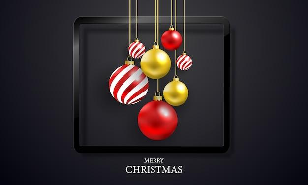 Christmas party czarne tło.