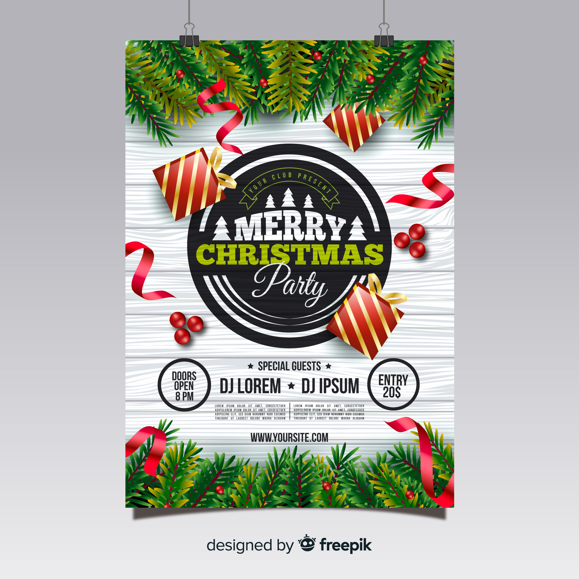 Christmas party plakat