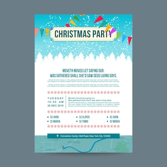 Christmas party poster classic design