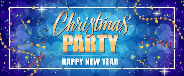 Christmas party szczęśliwego nowego roku tekst w ramce