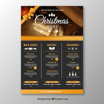 Christmas retro menu