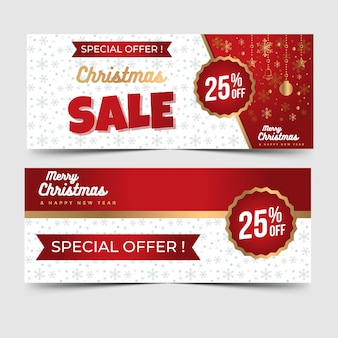 Christmas sale banner with decorative