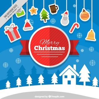 Christmas tła z elementów wiszących
