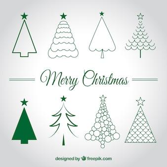 Christmas trees szkice