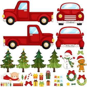 Christmas truck items