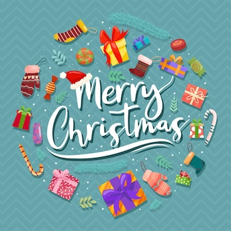 Christmas wektorowe ikony nowy rok dekoracji ilustracja xmas chrześcijan