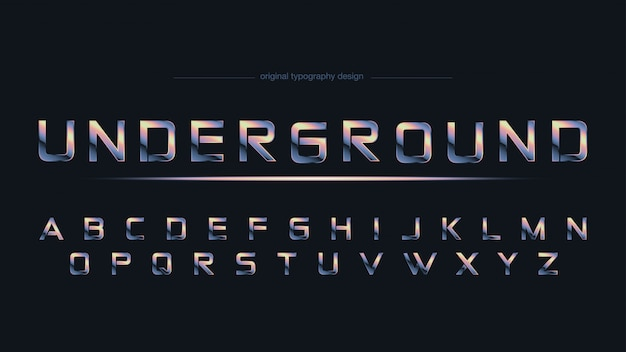 Chrome abstract sports typography
