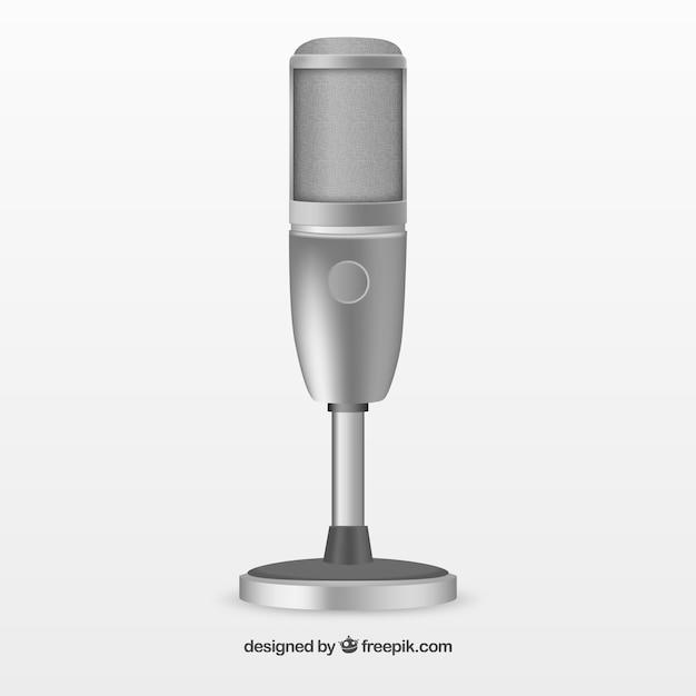 Chromowany mikrofon