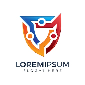 Chroń projekty logo technologii