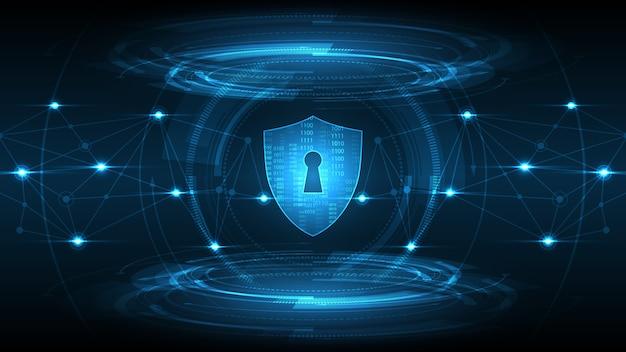 Chronione strażnik tarcza koncepcja bezpieczeństwa bezpieczeństwo cyber cyfrowe abstrakcyjne tło technologii