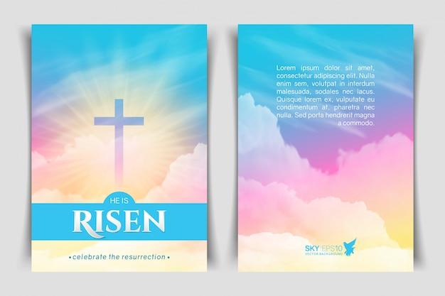 Chrześcijański projekt religijny. pionowy plakat.