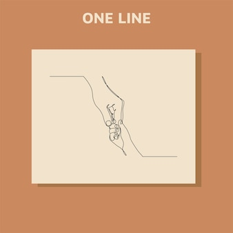 Ciągłe rysowanie linii pomocna dłoń