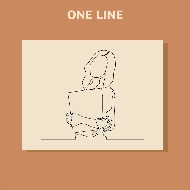 Ciągłe rysowanie linii pracowników biurowych stojących na spotkaniach biznesowych.