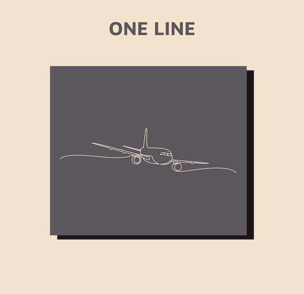 Ciągłe rysowanie linii samolotu