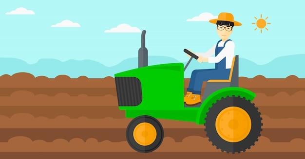 Ciągnik rolniczy.
