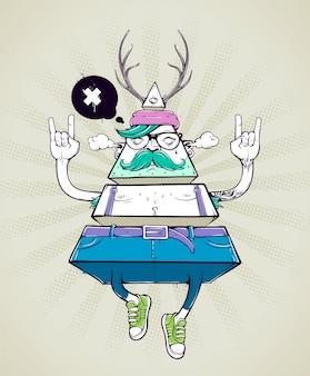 Ciało geometryczne hipster