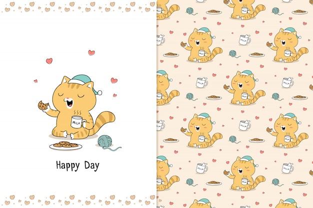 Ciasteczka kot doodle