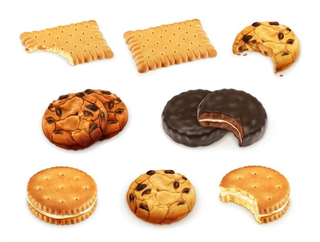Ciasteczka wektor zestaw
