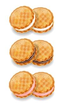 Ciasteczka zestaw ilustracji