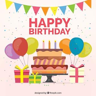 Ciasto tle ozdoba urodzinowa